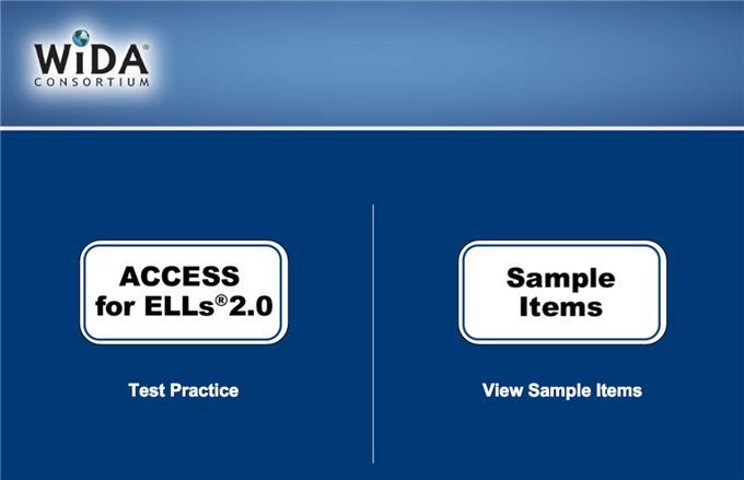 ACCESS 2.0 Sample Items and Practice Tests