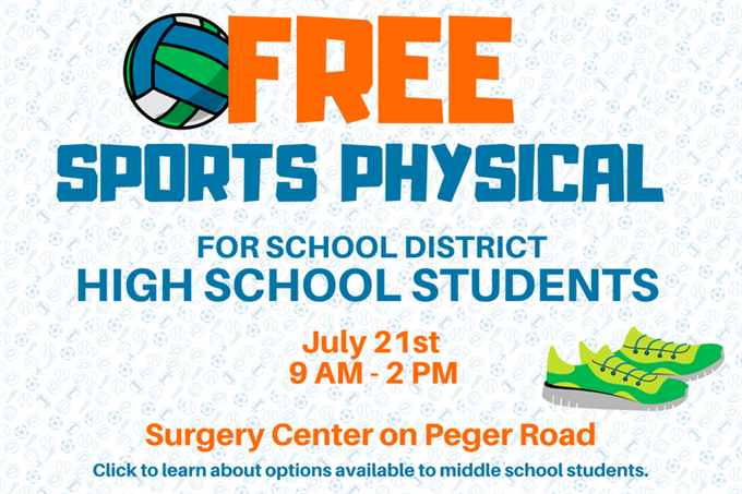 Free Sports Physicals for High School Students