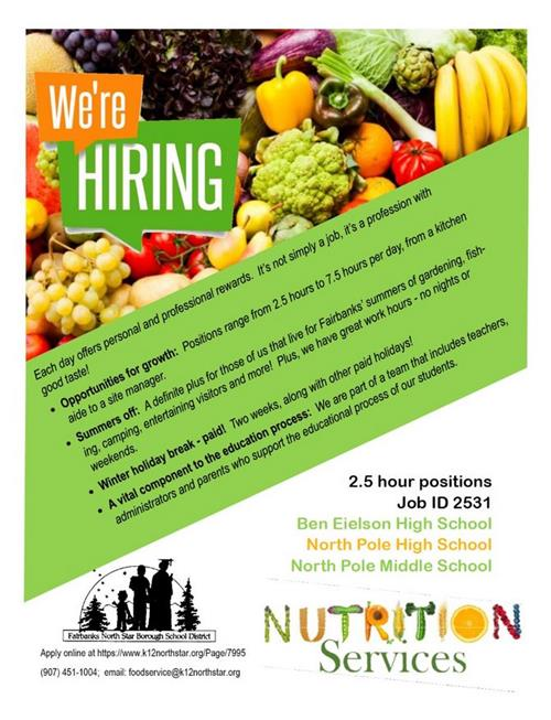 Job Opening in BEJHS Nutrition Services