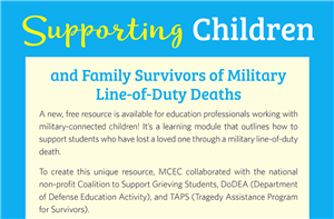 Supporting Children and Family Survivors of Military Line-of-Duty Deaths