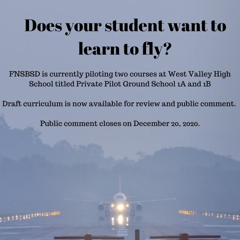 Curriculum Review and Comments  for FNSBSD Student's Private Pilot Ground School | December 8, 2020