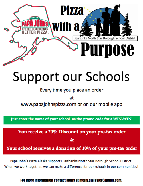 Papa John's Pizza with a Purpose Flyer