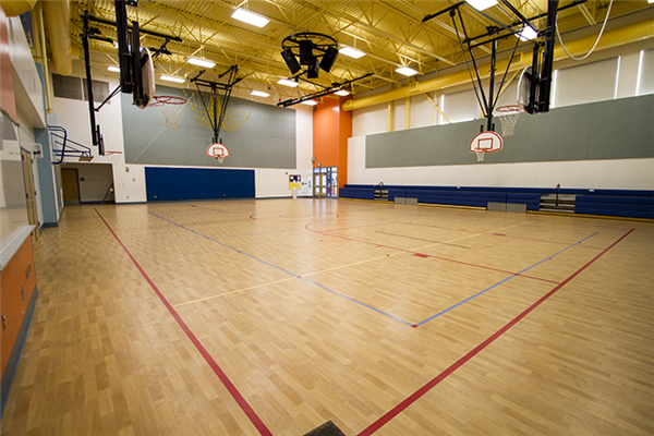 Building rentals elementary school gyms for Building a basketball gym